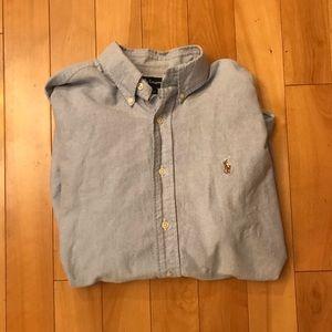 Polo Ralph Lauren men's blue button down shirt